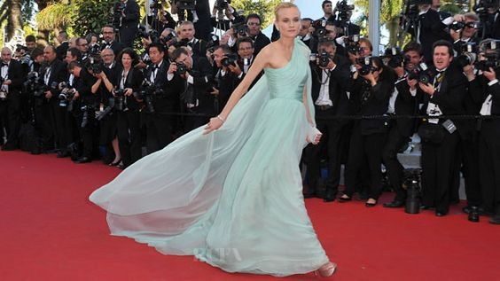 GORGEOUS! Diane Kruger In Giambattista Valli Couture: Mint Colored, Colored Gown, Krugers Gown, Dress, Cannes Film Festival, Couture, Redcarpet Fab