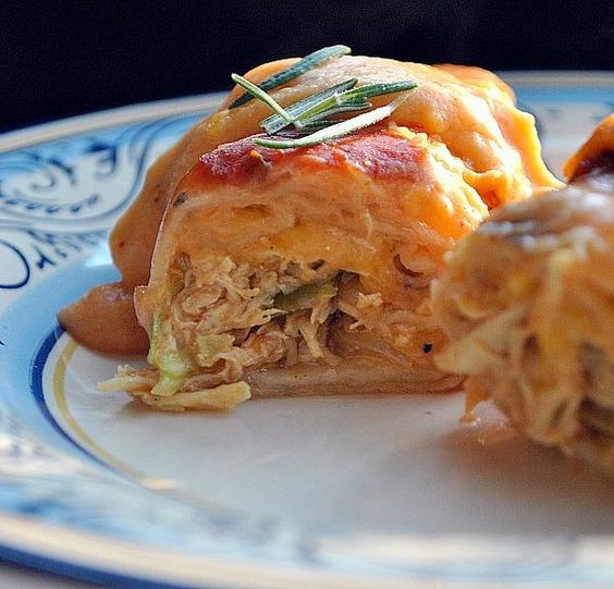 Simply Sour Cream Chicken Enchiladas from Food.com: Easy to assemble, deliciously creamy and a great choice for once-a-month cooking. And there is NO canned cream soup in my enchiladas -- Hope you give them a try!