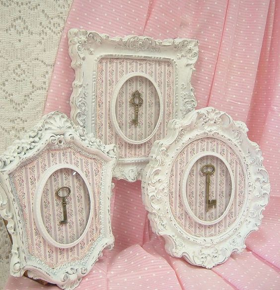 Shabby chic pink roses and wall decor on pinterest - Telas shabby chic ...