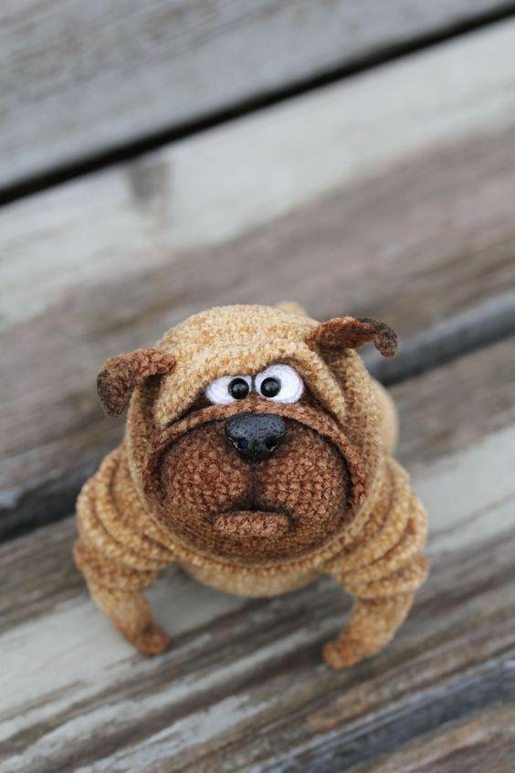 Knitted Pug   Вязаный мопс Венедикт — Купить, заказать, мопс, игрушка, вязаный, вязание, вязание крючком, ручная работа: