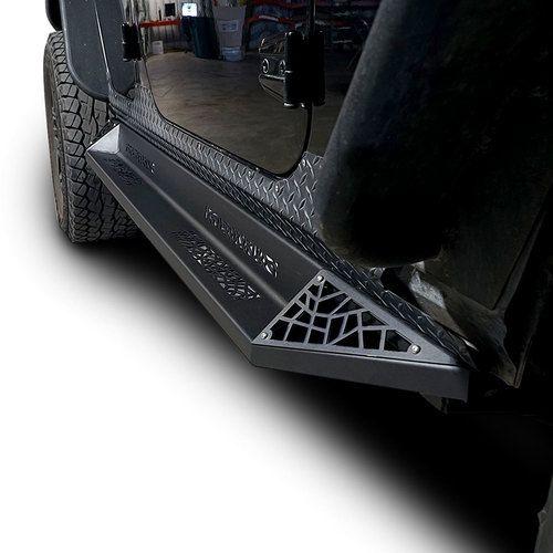 Aggressor Side Steps Rail Steps Rock Sliders 2007 2018 Jeep Wrangler 4dr Jeep Wrangler Accessories Wrangler Accessories Jeep Wrangler