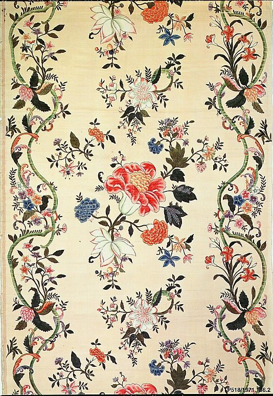 Piece Date: early 18th century Culture: Chinese for export Medium: Silk Dimensions: H. 76 x W. 31 1/2 inches 193.0 x 80.0 cm Classification: Textiles-Painted Credit Line: Rogers Fund, 1971