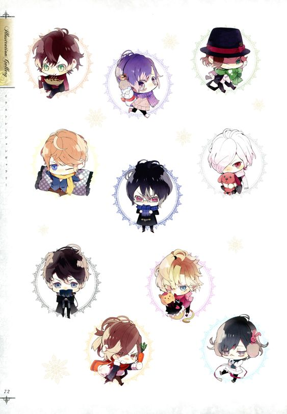 Tags: Scan, IDEA FACTORY, Official Art, Diabolik Lovers ~Haunted dark bridal~, Sakamaki Ayato, Sakamaki Kanato, Sakamaki Subaru, Sakamaki Laito, Sakamaki Reiji, Sakamaki Shuu, Rejet, Mukami Yuuma, Mukami Kou, Mukami Azusa, Mukami Ruki, Diabolik Lovers ILLUSTRATIONS