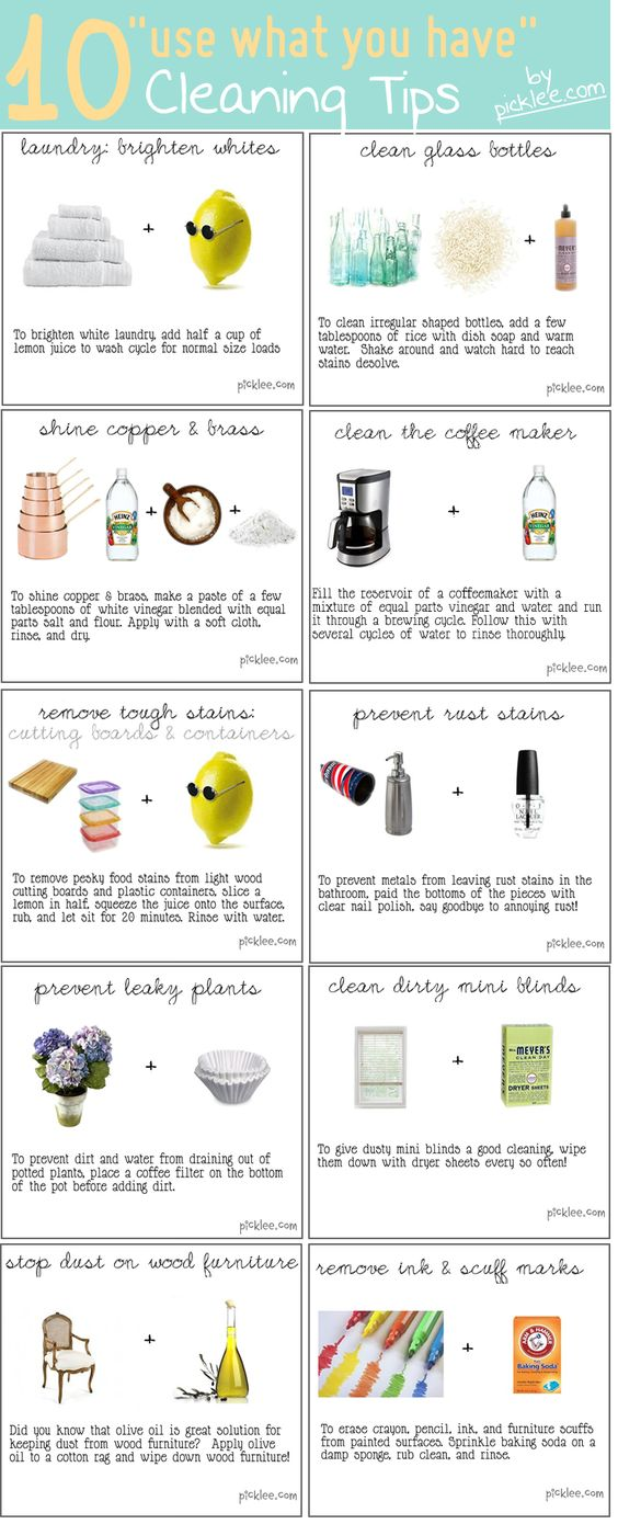 """10 AMAZING """"use what you have"""" cleaning tips!"""