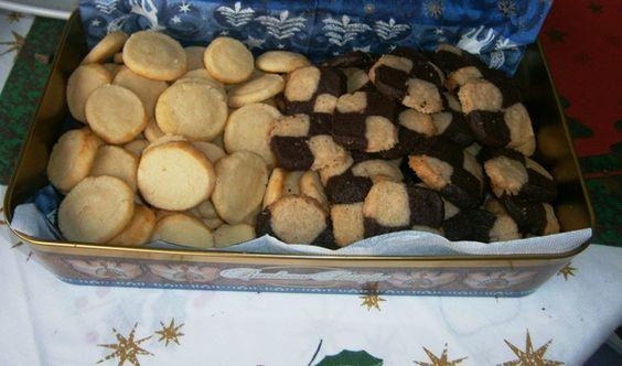 Rollos de Sassnitz y Galletas shortbread tablero de ajedrez (elforodelpan)