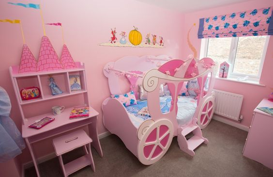 The little princess in your life will love this cute bedroom design, interior design examples from Gleeson Homes, currently building new homes.