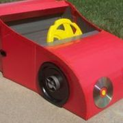 """Many parents tell stories of how after going through elaborate efforts to get their child a """"special"""" toy,  the child spends more time playing with the box than with the toy.  With a little effort you can enhance that fascination by turning a couple of cardboard boxes into a race car complete with a storage trunk for other toys. For older..."""