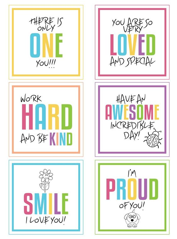 Free printable lunchbox notes to download!: