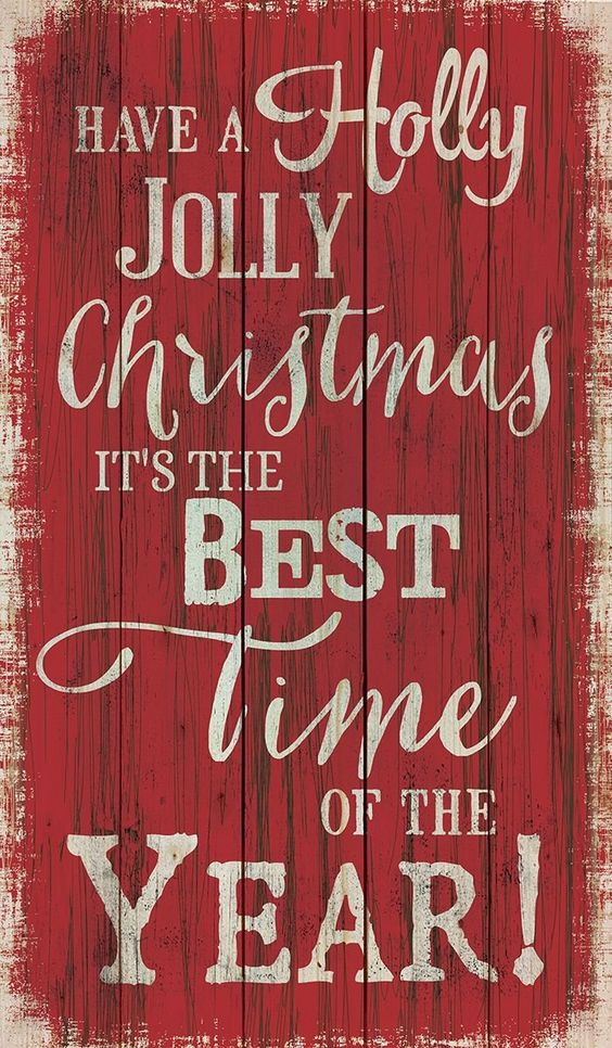 Have a Holly Jolly Christmas! It's the Best Time of the Year! #walldecor #art: