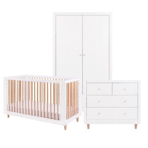 Cot Bed 3 Piece Nursery Furniture