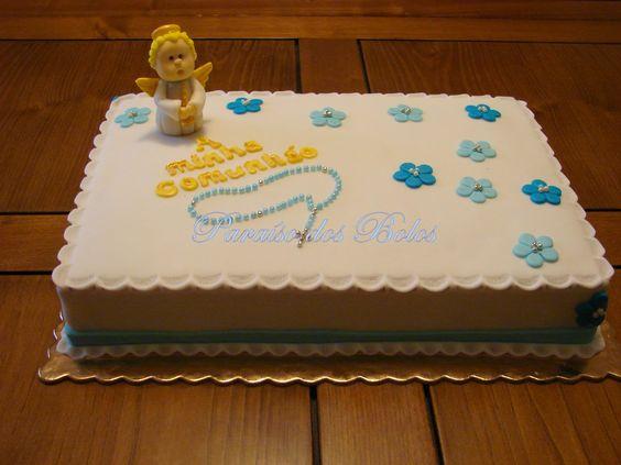 O Paraíso dos Bolos... Um bolo especial para alguém especial: Bolo de Comunhão