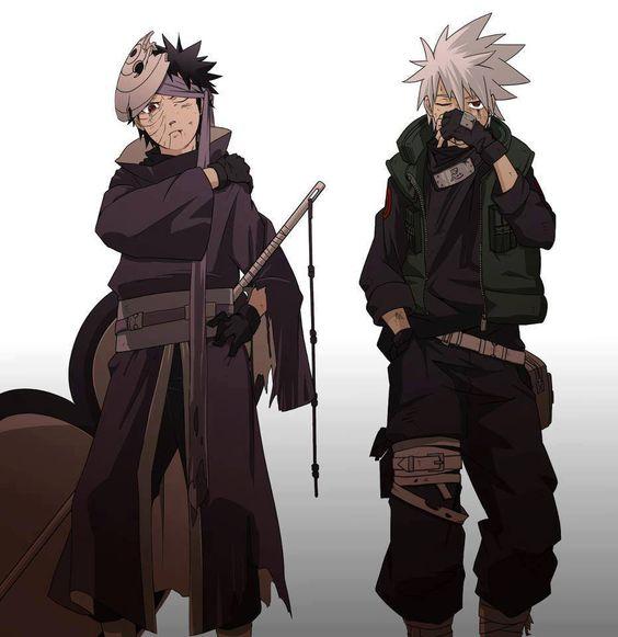 Baby Obito And Baby Kakashi. #Naruto #Kakashi #Obito