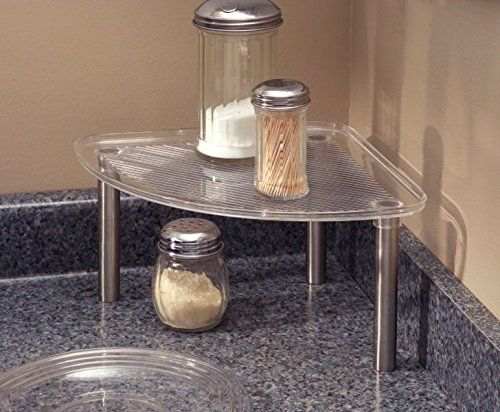 Free Standing Corner Storage Shelf For Kitchen Cabinets Or