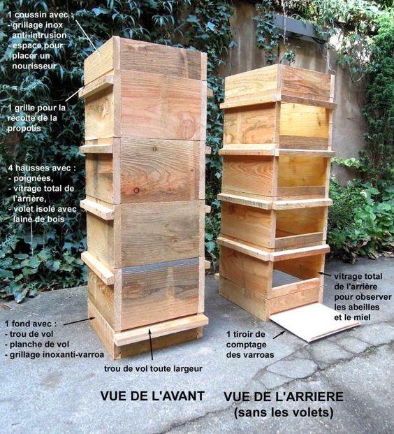 plan de fabrication et montage d'une ruche warré