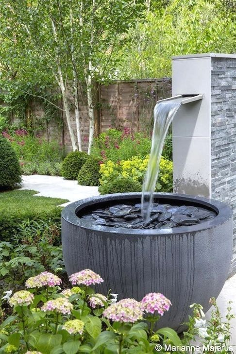 35 Amazing Outdoor Garden Water Fountains Ideas Garden Water Fountains Garden Fountains Small Garden Design
