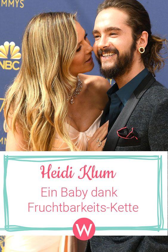 Heidi Klum Tom Kaulitz Baby Sensation Dank Fruchtbarkeits Kette Heidi Klum Schwanger Klum Tom Kaulitz