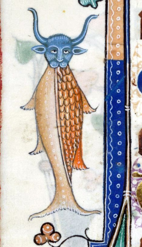 cowfish  Luttrell Psalter, England ca. 1325-1340  British Library, Add 42130…