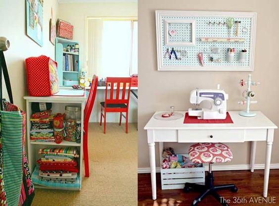 como arrumar atelier de costura  Pesquisa Google  Atelier  Pinterest  Qua