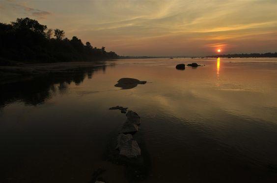 Sekong River sunset - Stung Treng, Cambodia