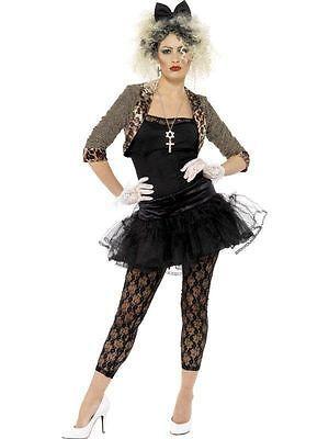 80s Pop Star Costume Wild Child Fancy Dress Madonna Outfit Ladies Womens FREE | Women's Fancy Dress | Fancy Dress - Zeppy.io