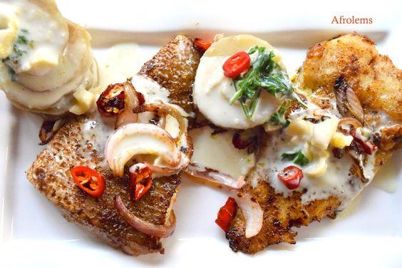 Lemon Fish with Sweet Potatoes