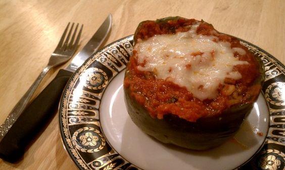 Ground Turkey & Rice Stuffed Peppers | Ground Beef | Pinterest ...