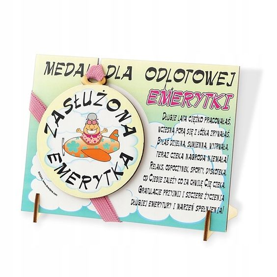 Medal Odlotowej Emerytki Prezent Na Emeryture Book Cover