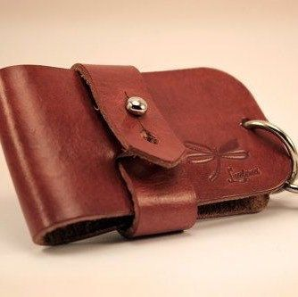Leather keychain. Designed by Ludena.