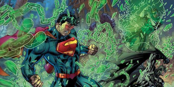 Superman Breaks Lantern Constructs