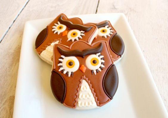 Owl cookies - Sweetsugarbelle