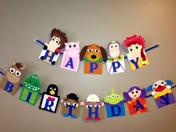 Handmade Toy Story happy birthday banner by Craftophologie on Etsy, $45.00