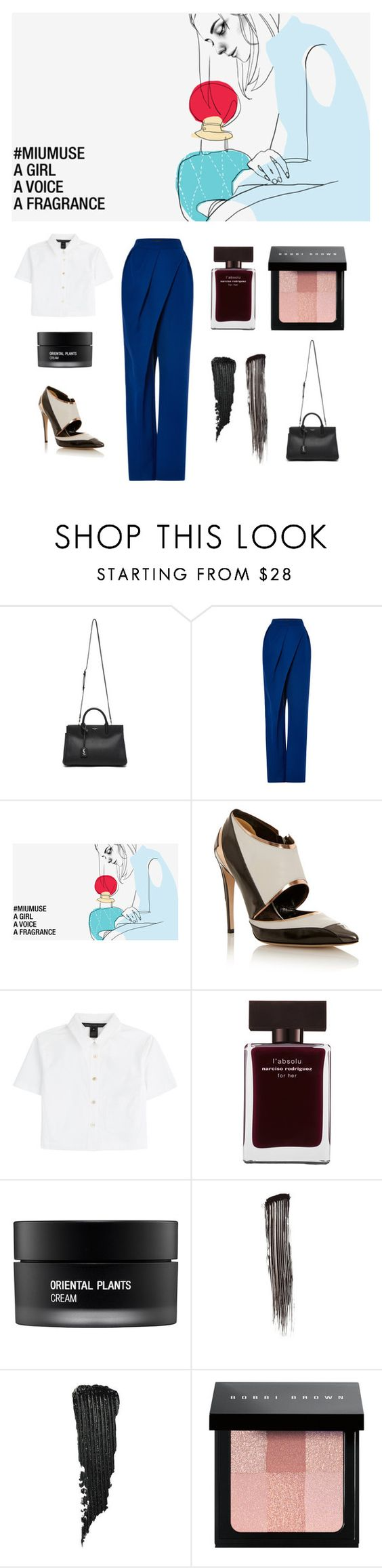 """""""new muse"""" by wednesday-williams ❤ liked on Polyvore featuring Yves Saint Laurent, Vika Gazinskaya, Prabal Gurung, Marc by Marc Jacobs, Narciso Rodriguez, Koh Gen Do, Chanel, Kevyn Aucoin and Bobbi Brown Cosmetics"""