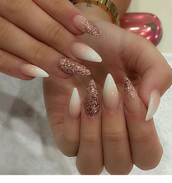 Acrylic Almond Shape Nails For Summer 2019 Miladies Net Trendy Nails Gorgeous Nails Almond Shape Nails