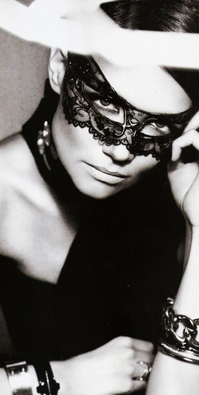 Katie Holmes ♥ Masquerade Black Lace Mask