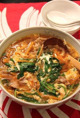 すぐにできる!豚肉でカルビクッパ風スープ