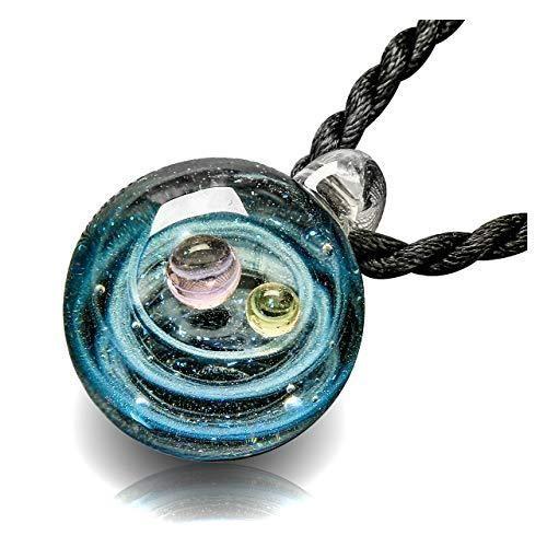 Silver Planet Collier Pendentif Femmes Naturel Turquoise boule Vintage Boho Jewelry