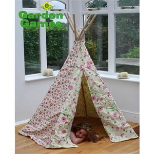 Flower and Butterfly Floral Wigwam tent
