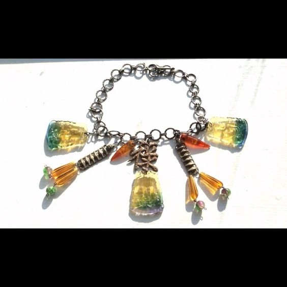 Glass Asian Necklace Vintage Pendants RARE Large Pendants, Asian Symbols, Antique. Good Vintage Condition. Unusual. Attractive for any outfit. Jewelry Necklaces