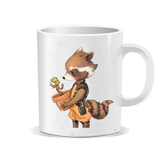 Groot rocket racoon best friend Ceramic Mug