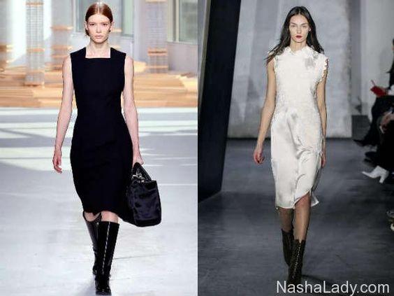 Деловые платья модный город