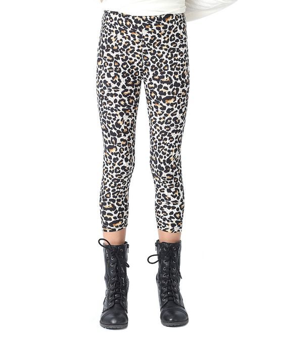 Another great find on #zulily! Rated G Brown & Black Leopard Leggings - Girls by Rated G #zulilyfinds