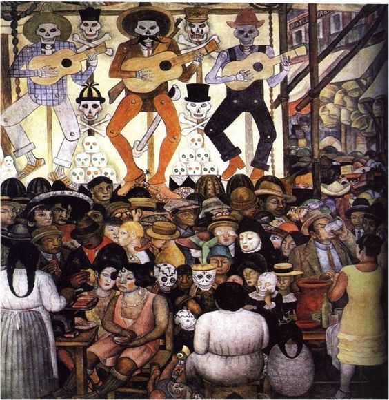 Diego rivera santos and murals on pinterest for Diego rivera day of the dead mural