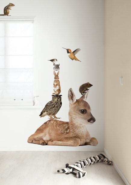 Animal wall stickers from Amsterdam.
