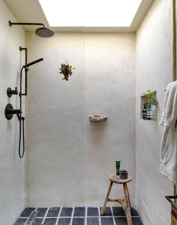 Inspiration  une douche à l\u0027italienne Plantes, Salles de bain