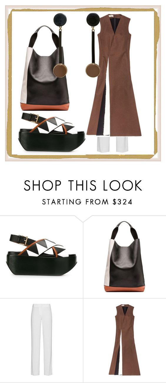 """""""Easy Living"""" by engleann ❤ liked on Polyvore featuring Marni, DKNY, women's clothing, women's fashion, women, female, woman, misses and juniors"""