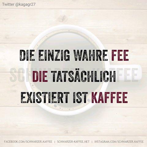 Die einzige wahre Fee die tatsächlich existiert ist Kaffee: