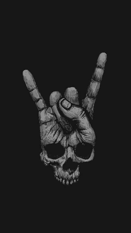 Download I Phone Wallpapers Black Skull Wallpaper Black Phone Wallpaper Dark Wallpaper