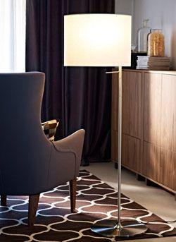 stockholm standleuchte in wei neben stockholm sessel mit. Black Bedroom Furniture Sets. Home Design Ideas