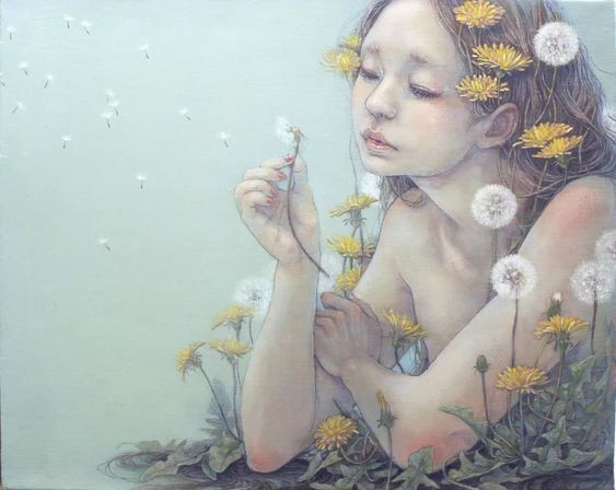 Miho Hirano - 春風 F3 Oil on canvas