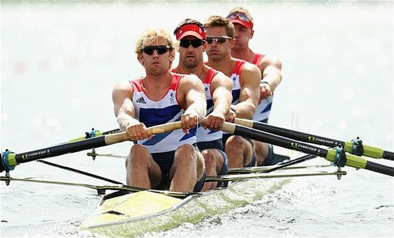 Team GB Olympics 2012 gold winners: Andy Triggs Hodge, Tom James, Pete Reed and Alex Gregory.